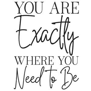 you are exactly where you need to be quote