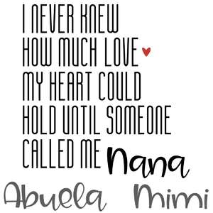 never knew love - nana abuela mimi
