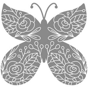 floral doodle butterfly