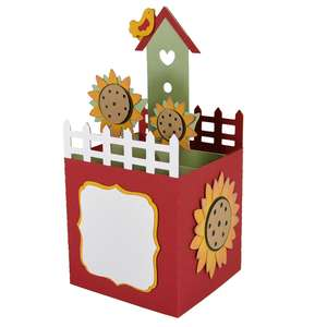 sunflower birdhouse card in a box