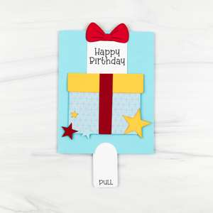 double slider card birthday present