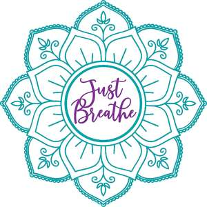just breathe mandala