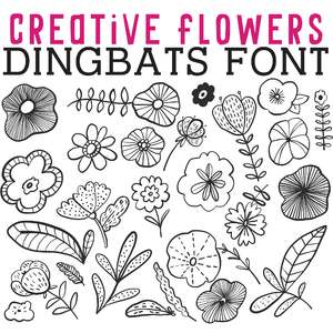 cg creative flowers dingbats