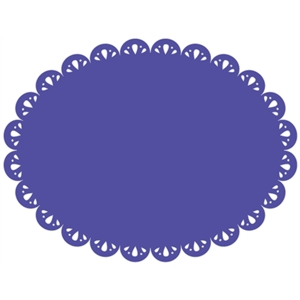 12 in. oval doily background