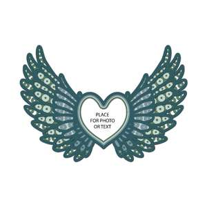 angel wings 3d memorial multi layer mandala