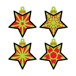 3d layered christmas bundle 4 ornaments stars