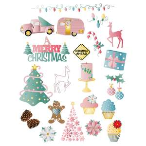 pastel christmas planner stickers