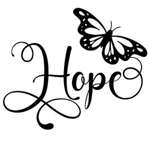 hope butterfly word