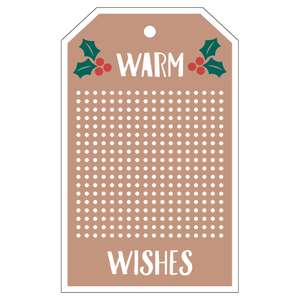 warm wishes tag for cross stitch