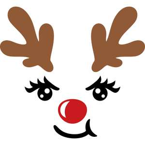 happy face reindeer