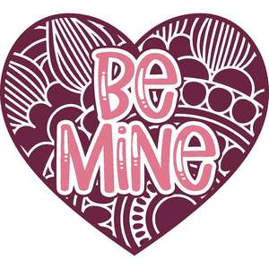 be mine valentine heart mandala