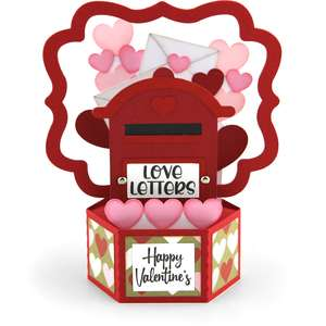 hexagon pop-up valentine mailbox
