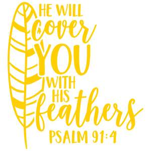 he will cover you with his feathers
