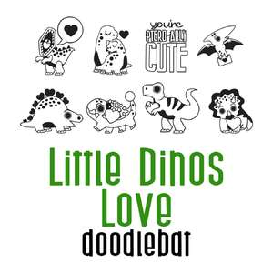 little dinos love doodlebat