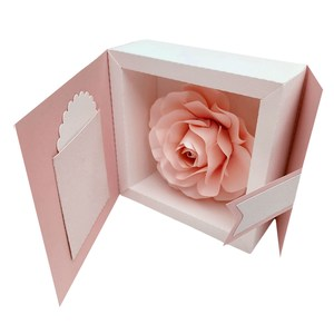 3d floral frame in box