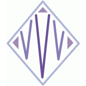monogram diamond 'v'