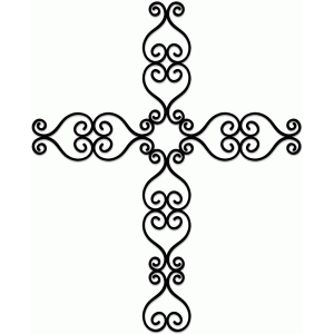 wrought iron cross