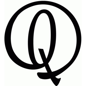 round flourish monogram - q