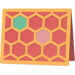 hexagon card