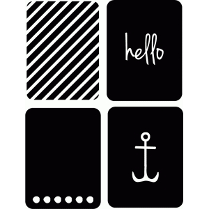 3x4 journaling card hello collection