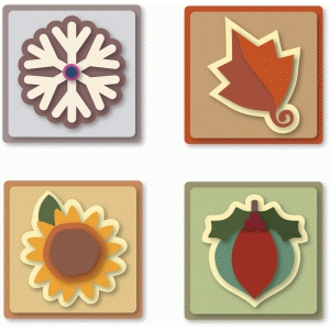 triangle folds card 4 seasonal tiles for fold over triangles card