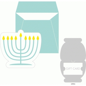 menorah gift card holder + envelope