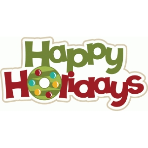 happy holidays christmas title/phrase