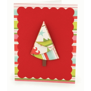 a2 layered christmas tree card