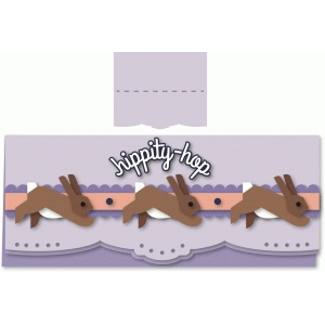 "bunny chase ""hippity-hop"" long card"