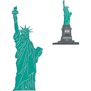 statue of liberty - top