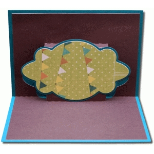 a2 pop up decorative bubble frame card