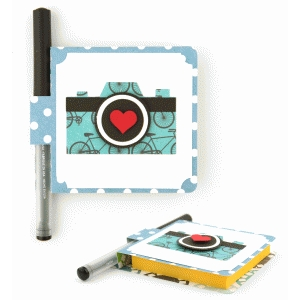 sticky note cover: camera