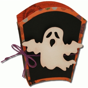 3d ghost treat box with mat