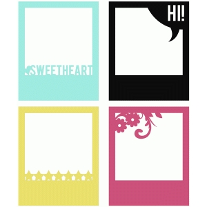 sweetheart polaroid frame set of 4