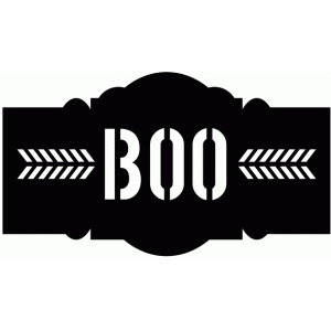 halloween boo decor