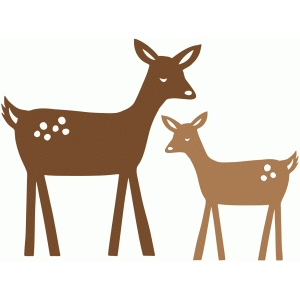 sweet deer and fawn