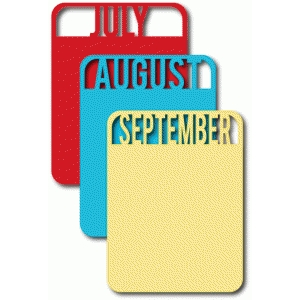 july, august, september cards set 3