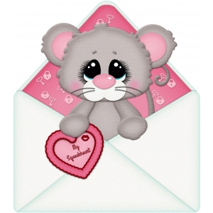 valentine mouse in envelope