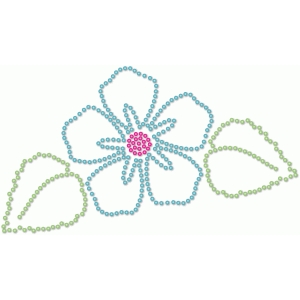 rhinestone outlined flower