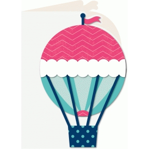 a2 shaped card hot air balloon