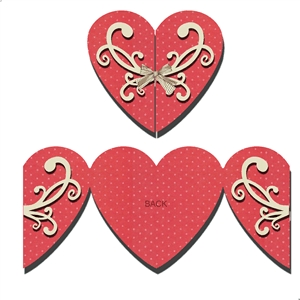 gate fold card - heart shape