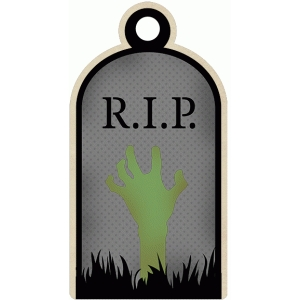 rip halloween grave tag