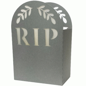 halloween leafy gravestone votive holder