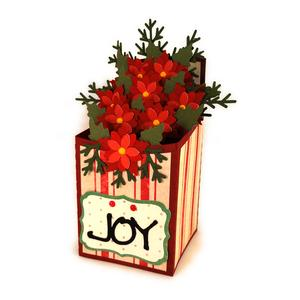 poinsettia box card