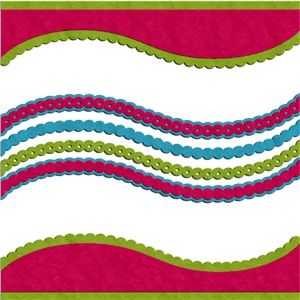 scalloped wave borders