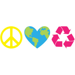 peace love recycle