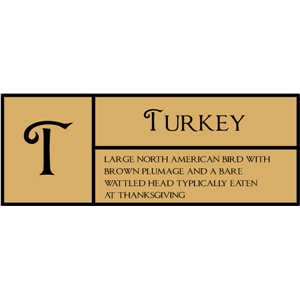 t is for turkey pc