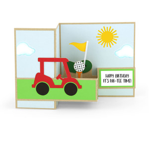 pop up box card golf
