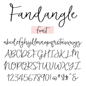 fandangle font by angie makes