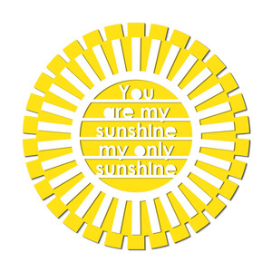 my sunshine cut out